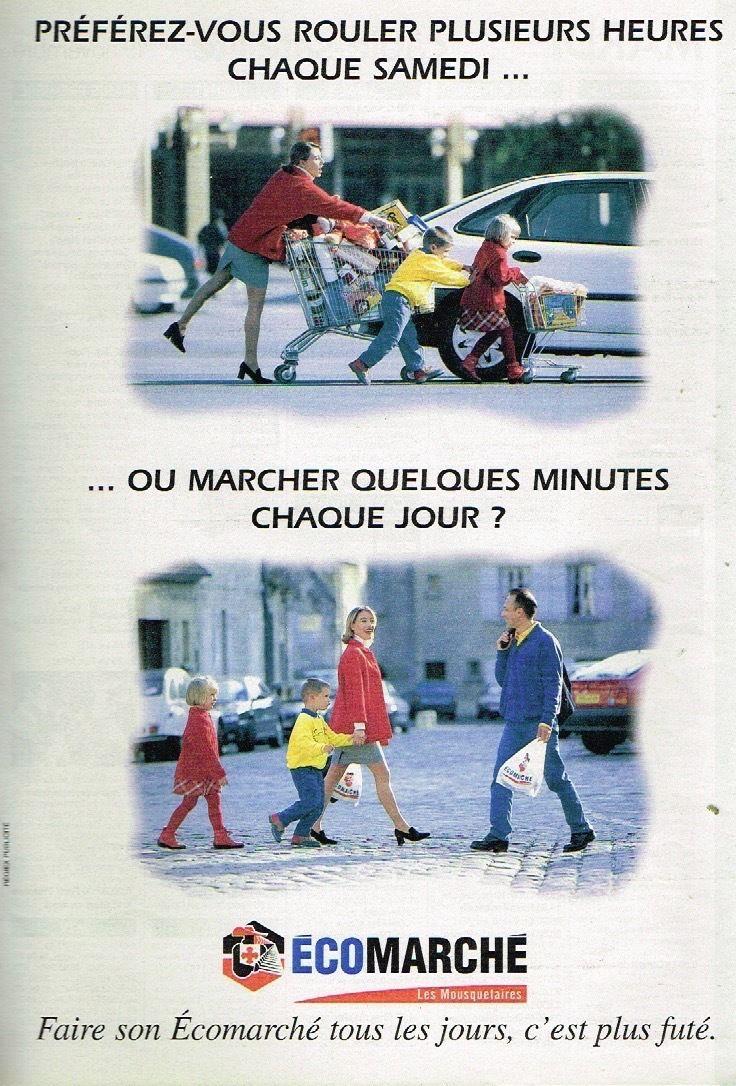 Publicité-advertising-1996-Les-Magasins-Ecomarché-Intermarché-mousquetaires